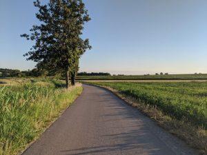 Parndorf Ort - začiatok cyklo